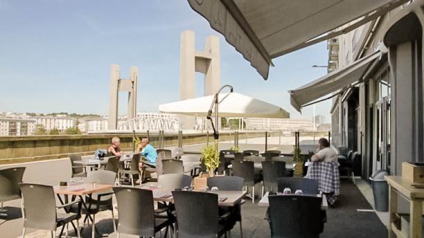 La vue en terrase depuis le restaurant